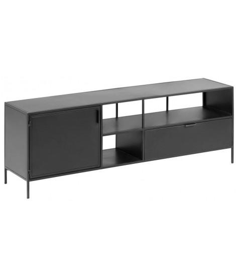 lama meuble tv design industriel en metal noir