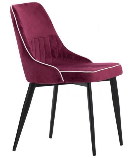 chester choix de couleur en tissu et chaise design pieds metal noir