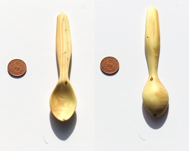 unidentified wood tea spoon