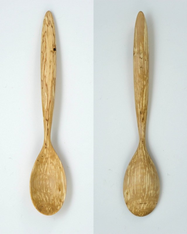 spalted birch serving spoon