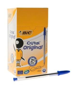 Esferográfica BIC cristal azul – caixa com 50 esferográficas BIC