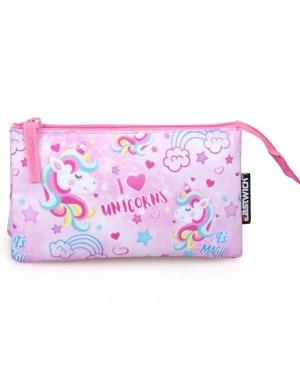 Estojo triplo I love unicorns EASTWICK
