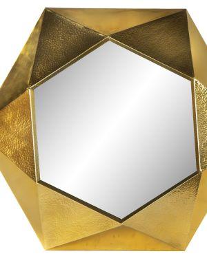 Espelho metal dourado 80cm