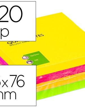 Bloco de notas adesivas fluor 75×75