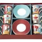 Set 6 chávenas e pratos porcelana Illusion Easy Life