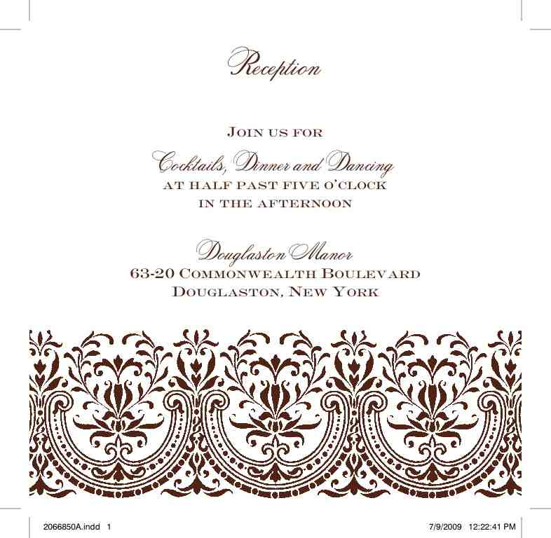 Reception Card Wording Help