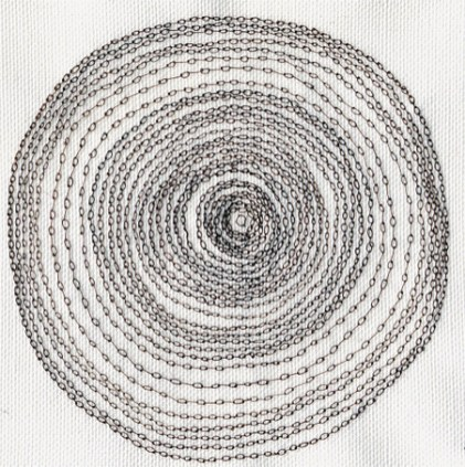 Untitled (Concentric loop knot stitch), 2006