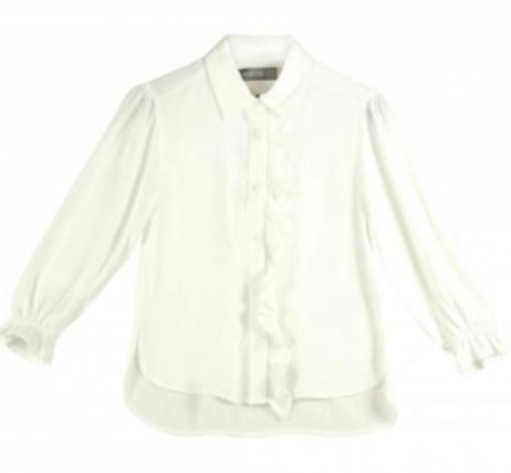 Offwhite blouse met roezel lizalau_kids