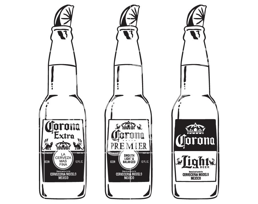 Download Corona Beer Bottles - Alcohol Design Elements SVG Design-LLD