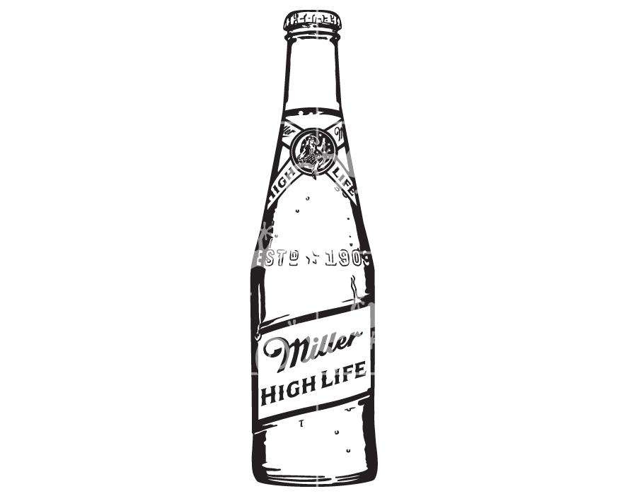 Download Miller Highlife Beer Bottle - Alcohol Design Elements SVG De
