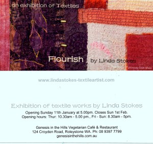 The invitation card for Linda's Exhibition.