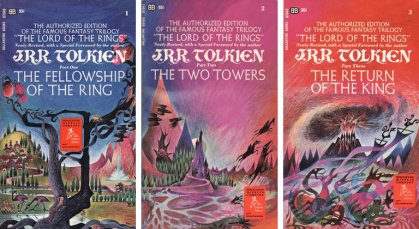 Covers of the Lord of the Rings Trilogy  https://i2.wp.com/www.tor.com/wp-content/uploads/2019/01/LOTR-Ballantine.png?fit=770%2C+9999&crop=0%2C0%2C100%2C420px&quality=100&ssl=1
