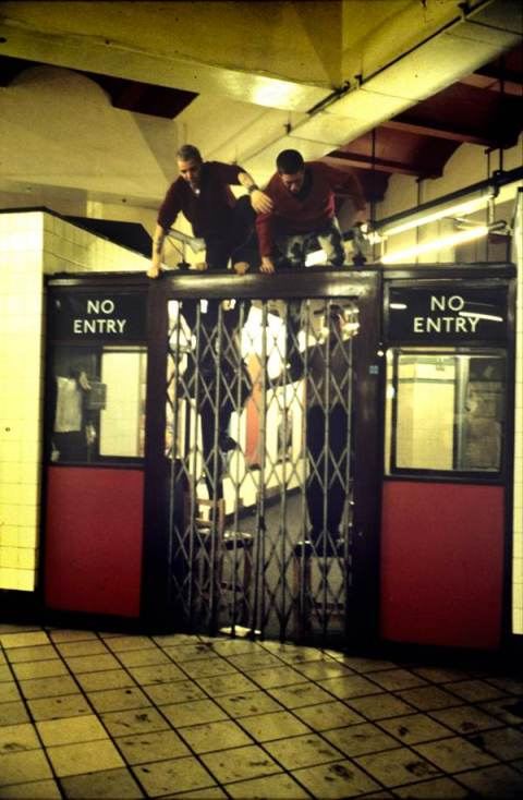 Jumping ticket gates