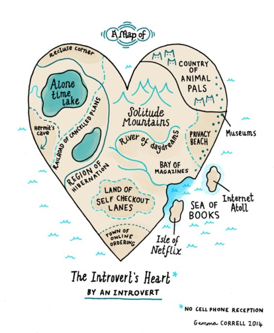 Map Introvert Heart