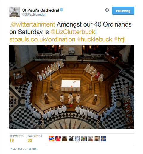 St Paul's Tweet
