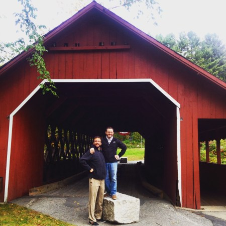 Ian, Adam & a covered bridge