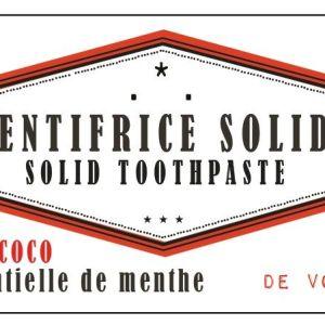 dentifrice solide huile de coco menthe
