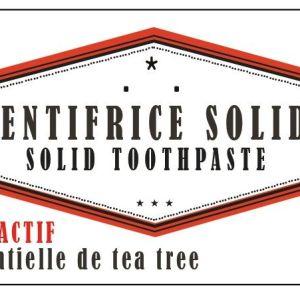 dentifrice solide charbon actif tea tree