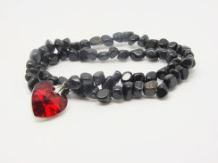Tigers Eye with crystal heart