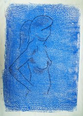 Miriam in mono print