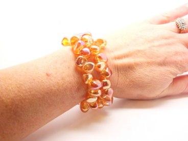 Rock crystal bracelet