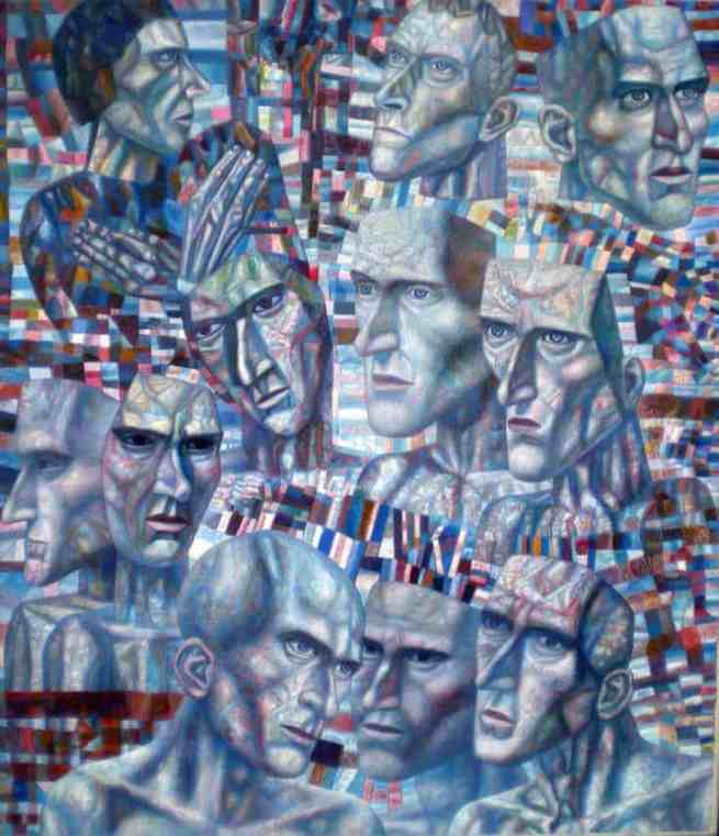Haunted emaciated faces by Mikhail Vrubel