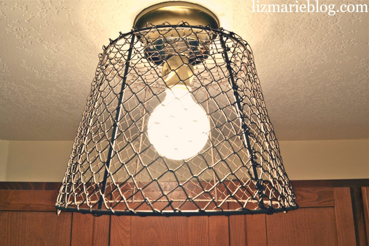 DIY Wire Basket Light