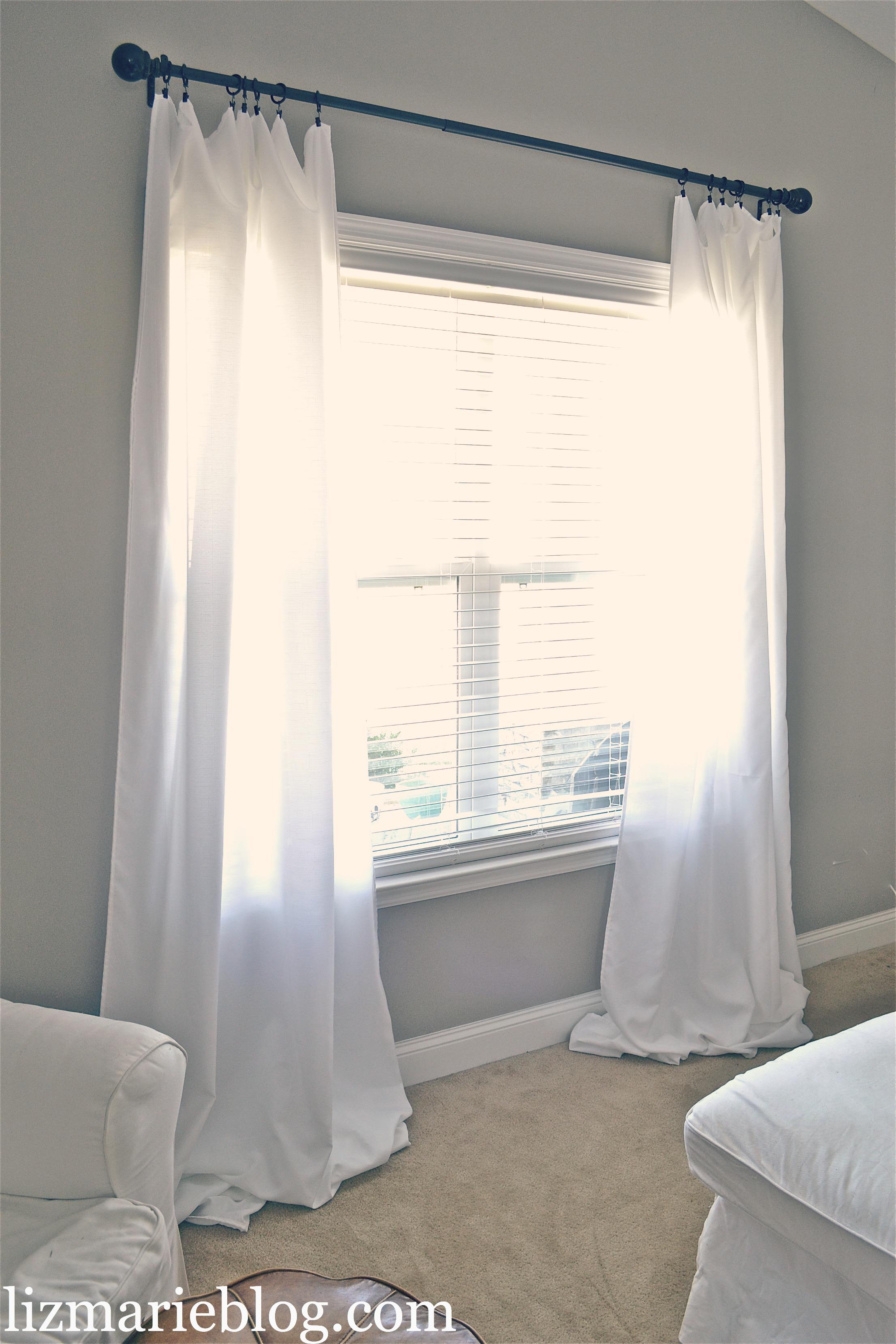 DIY Floor Length Curtains