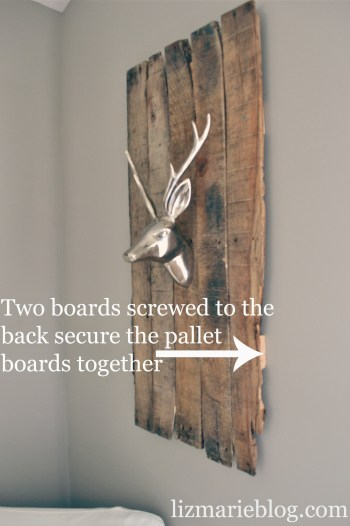 Diy Deer Head Pallet Mount Liz Marie Blog