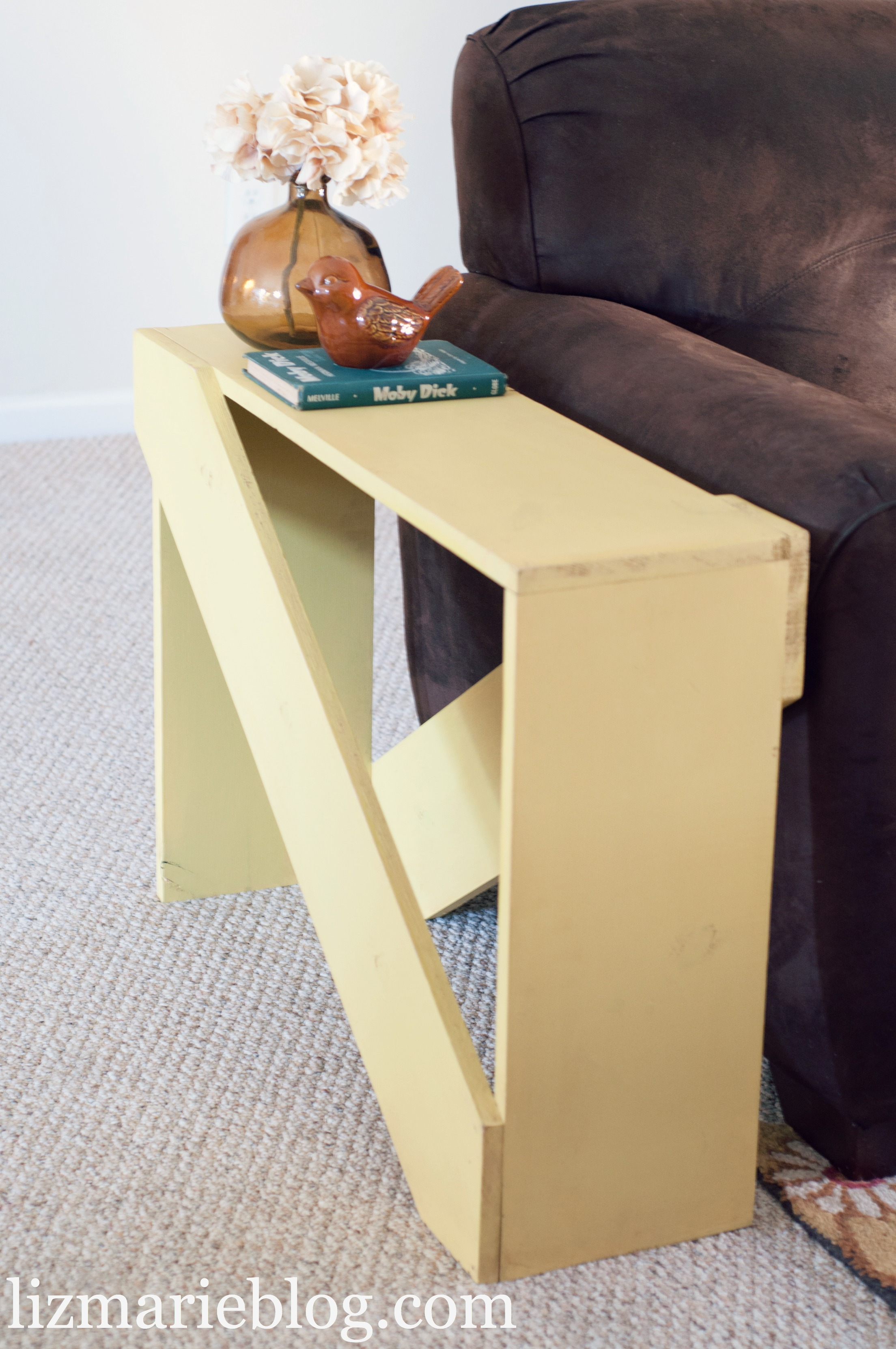 DIY 5 Board End Table - Liz Marie Blog