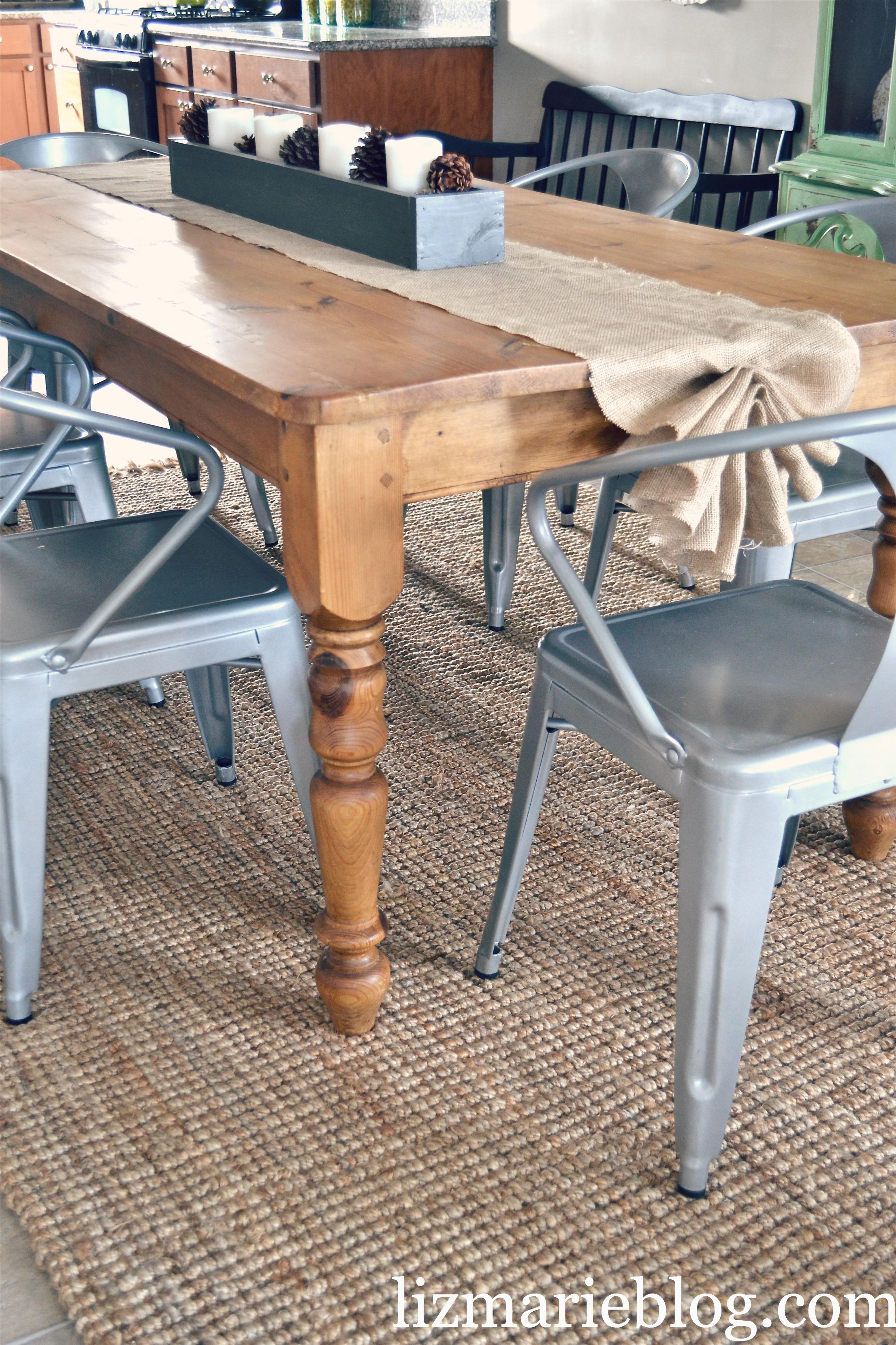DIY Burlap Table Runner Liz Marie Blog