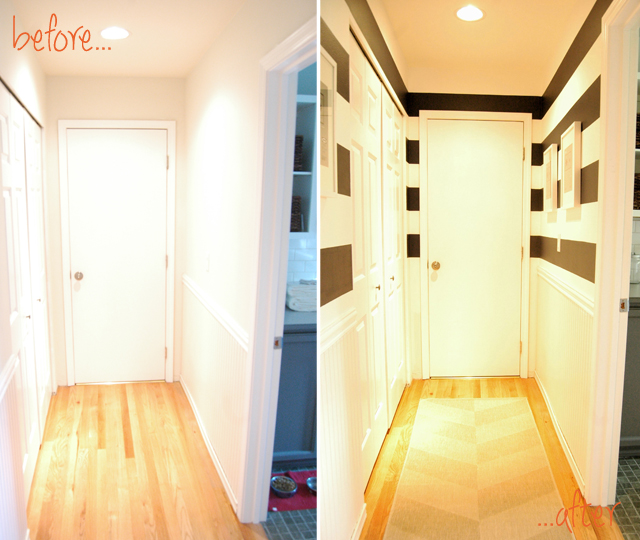 before & After hall way