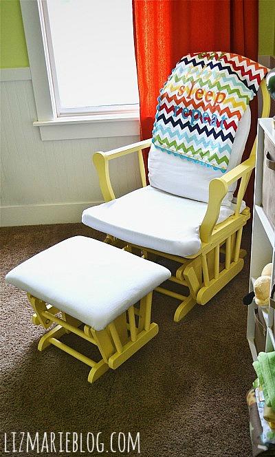 Nursery Glider Makeover Liz Marie Blog
