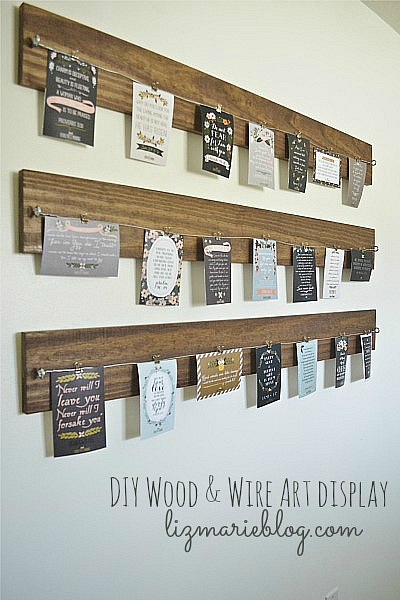 Photo Wire Display diy wood and wire art display - liz marie blog