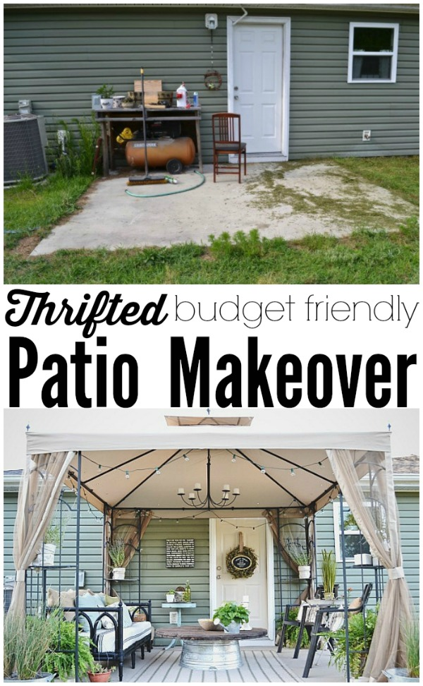 Back Patio Makeover Full Reveal & Source List - Liz Marie Blog on Back Patio Ideas On A Budget id=73942