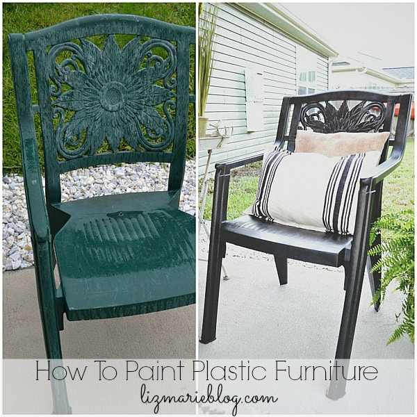How To Paint Plastic Furniture & A Makeover - How To Paint Plastic Furniture & A Makeover - Liz Marie Blog