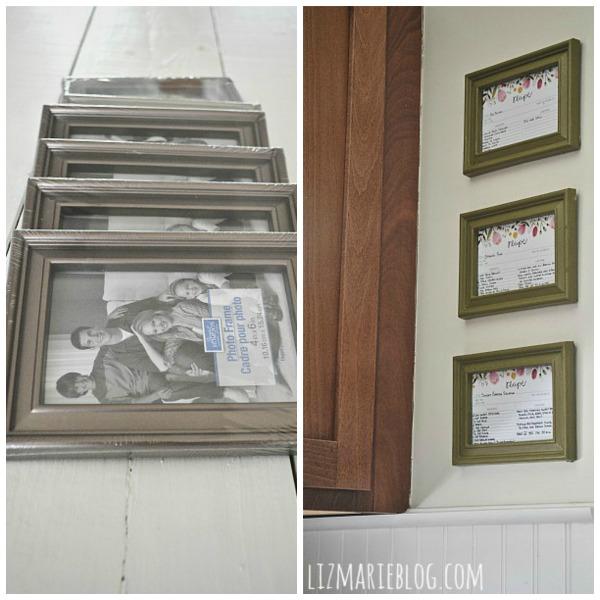 DIY Framed Recipe Cards - Liz Marie Blog
