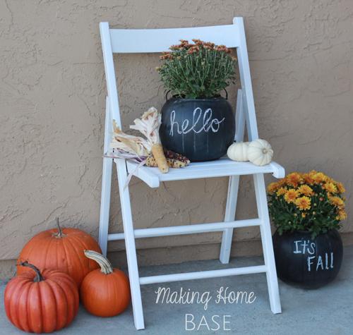 Pumpkin-Planter-with-Chalkboard-Paint