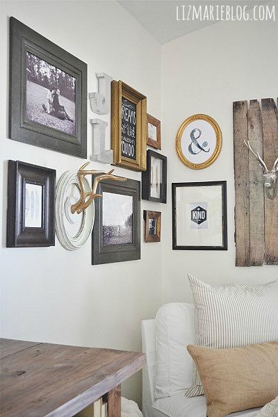 How To: DIY Corner Gallery Wall