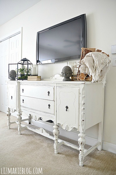 Buffet Makeover Using DIY Chalk Paint   Full Recipe On The Blog On How To  Make