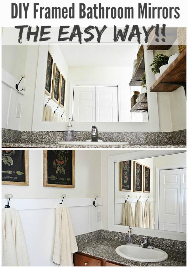 DIY Framed Bathroom Mirrors - Liz Marie Blog