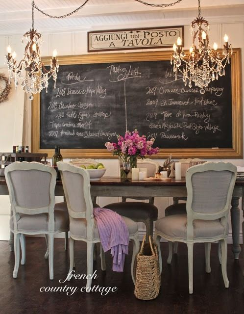 Trend To Love: Dining Room Chalkboard Wall   Lizmarieblog.com