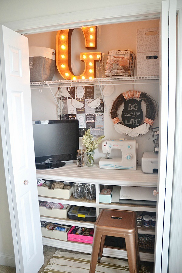 Diy Craft Closet Office Liz Marie Blog