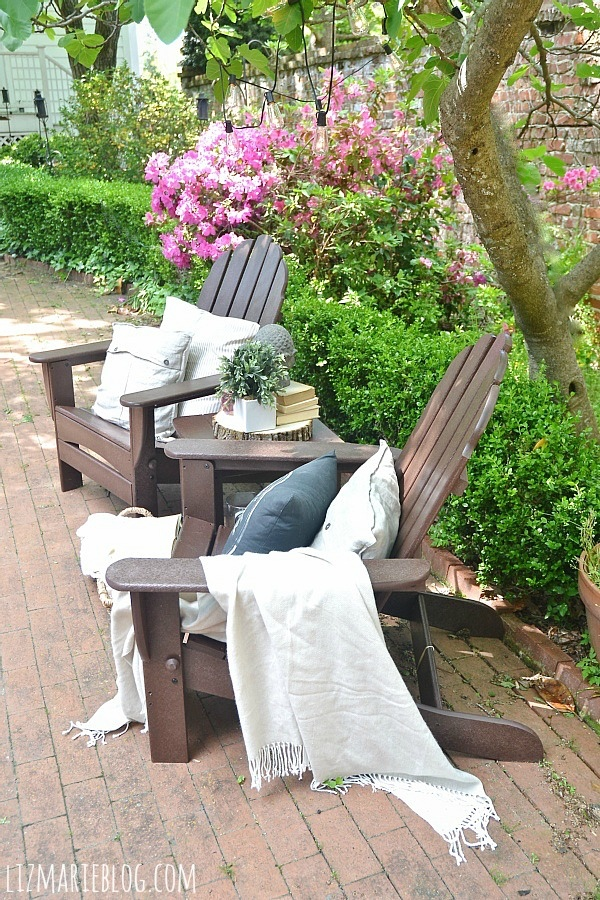 Best Lovely spring patio with eco friendly patio furniture lizmarieblog