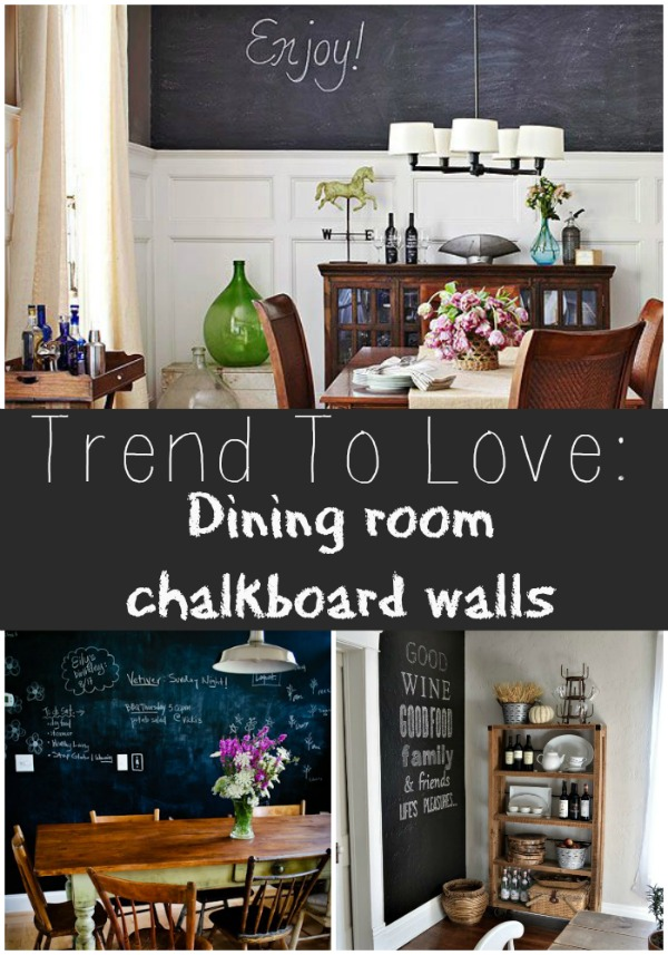 trend to love: dining room chalkboard walls - liz marie blog