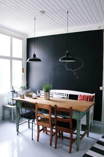 Good Trend To Love: Dining Room Chalkboard Wall   Lizmarieblog.com