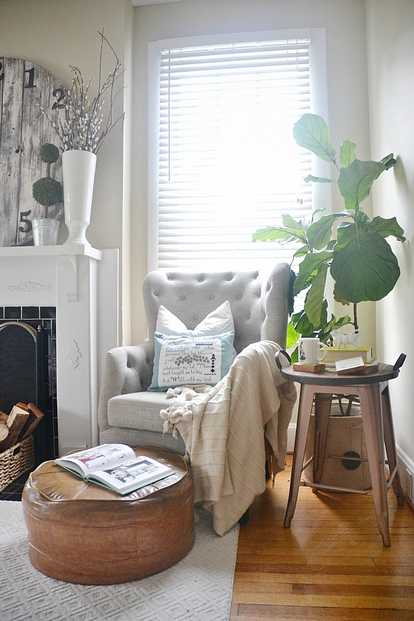 One Chair Two Ways   TJ Maxx Tufted Chair   Lizmarieblog.com ... Part 68