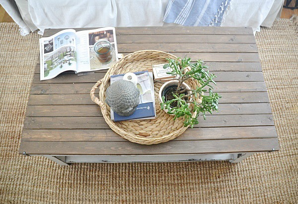This Coffee Table Is Perfect In Our New Rental Living Room Which Will Be On  The Blog Soon, U0026 Weu0027ve Used It Like This For Almost A Year Now U0026 We Love ...