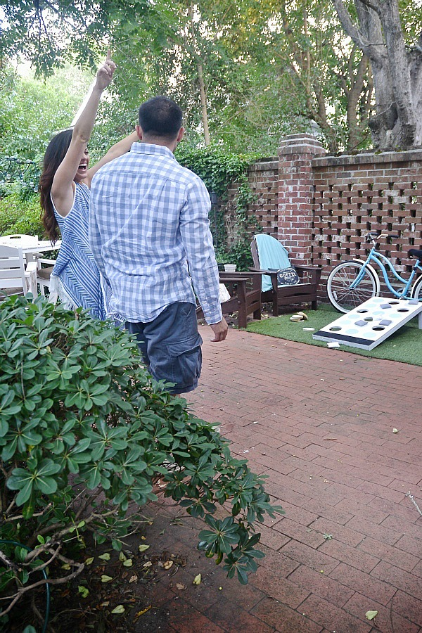DIY Simon Says Cornhole - a super fun easy DIY backyard game that everyone will love!