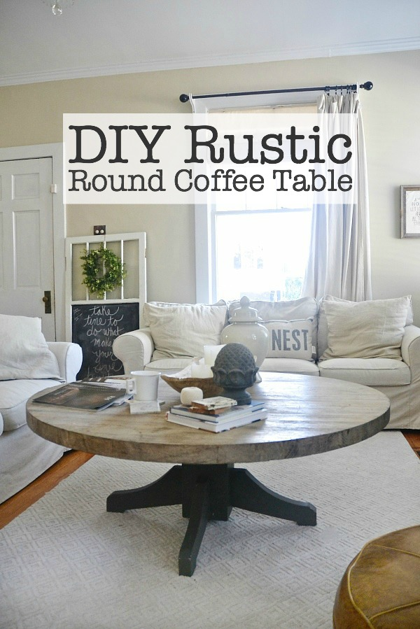 DIY Round Coffee Table Liz Marie Blog